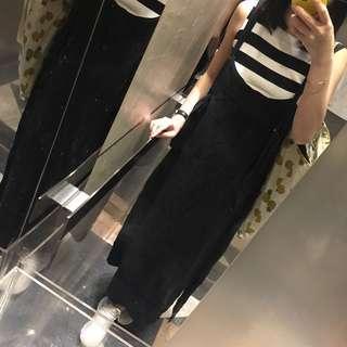 韓國款黑白間條針織背心 連身裙 衛衣外套 褲 外套 牛仔