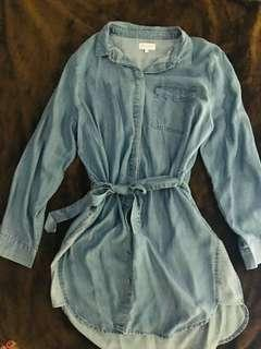 Ware house denim boyfriend shirt type dress