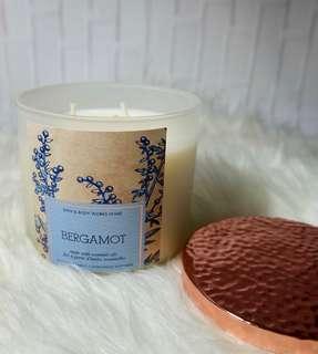 Bath &Body Works Candle Bergamot with Essential Oil