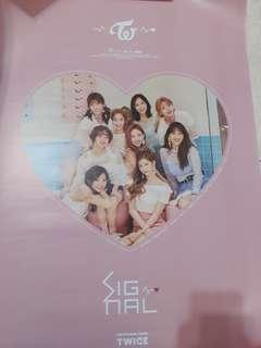 WTS TWICE OFFICAL SIGNAL POSTER