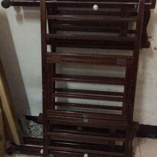 傳統式實木嬰兒床 原木床 小床 遊戲床 搖床 搖籃 兒童床 置物架 木頭