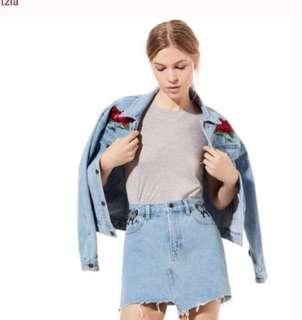 Aritzia oversized denim jacket