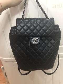 Chanel  深紫藍色羊皮背包 backpack