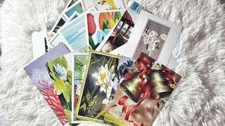 30pcs hand painted postcards