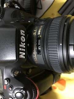 Nikon D610 with lens