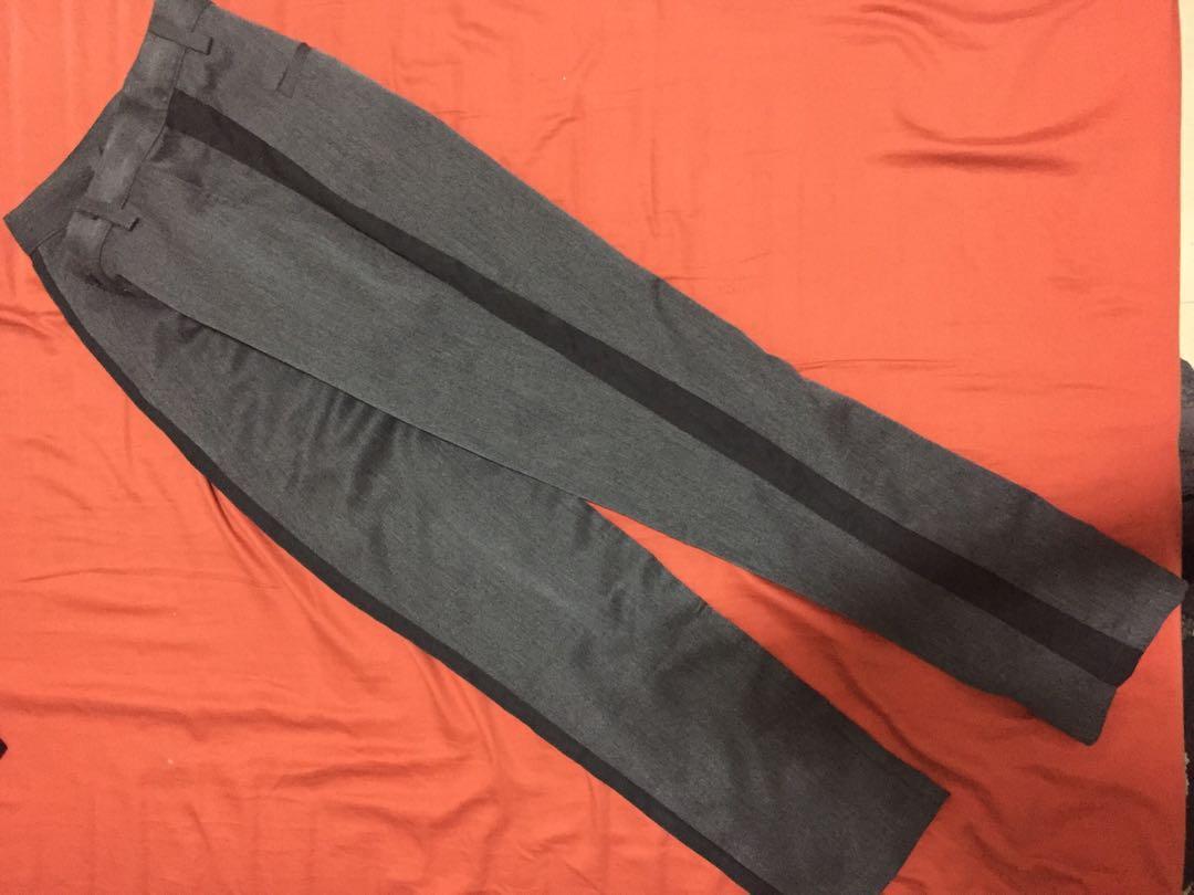 深灰黑邊 西裝褲