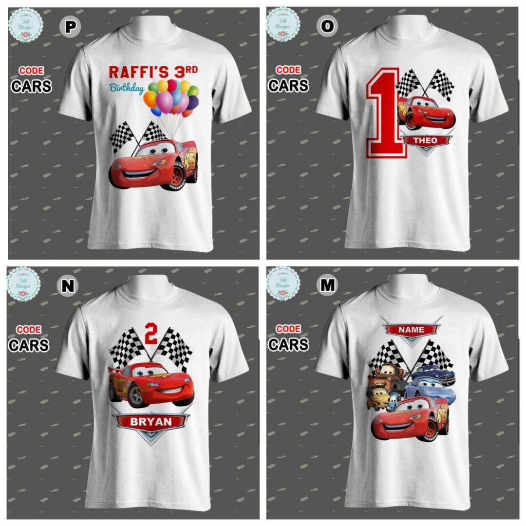 Disney Cars Family Tshirts Personalised Couple