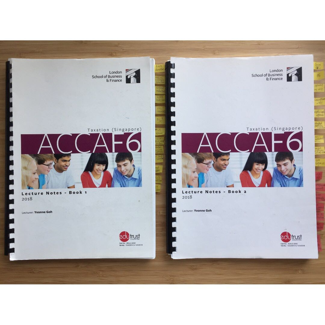 ACCA F6 Taxation (Singapore)