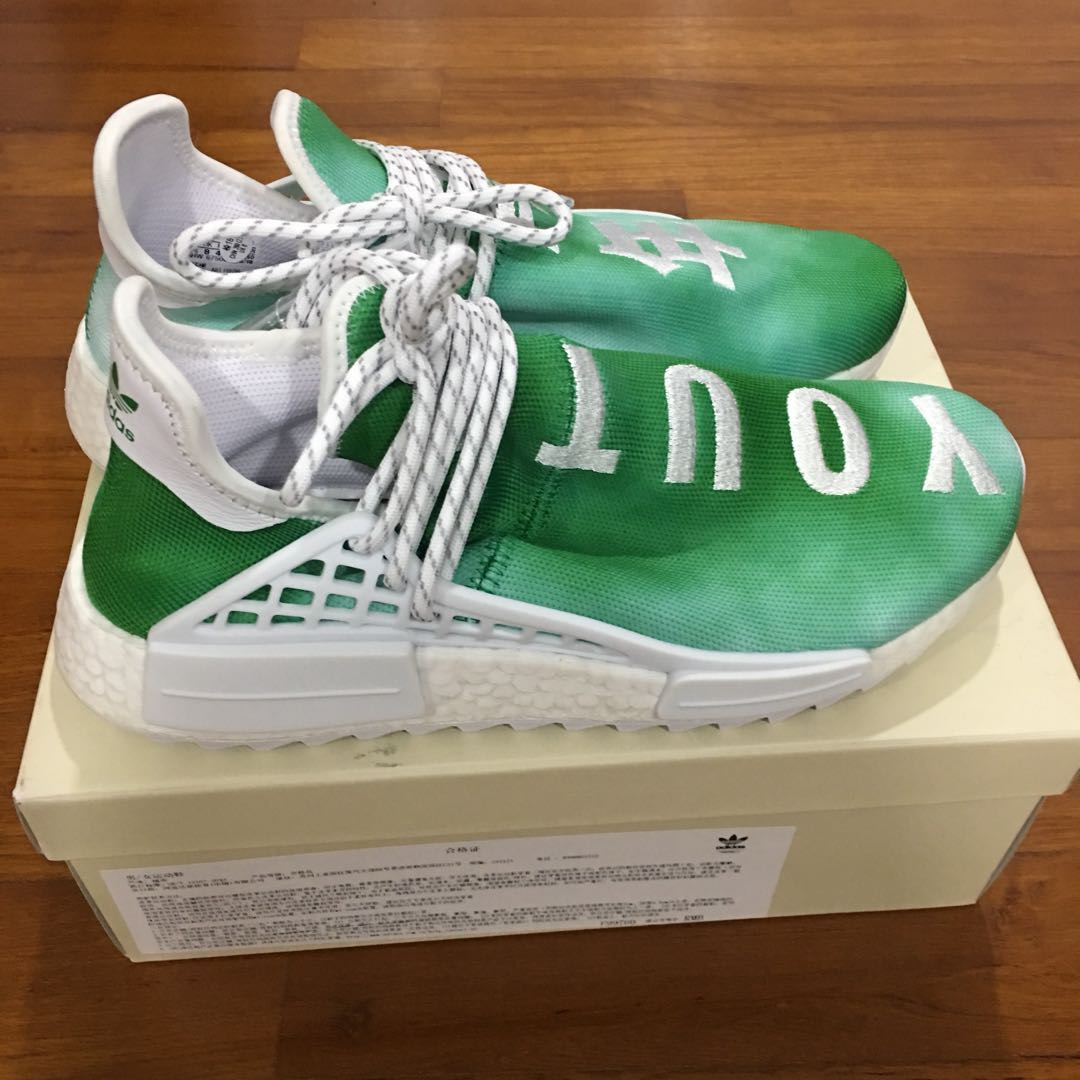 322336186 Adidas Originals PW HU HOLI NMD GREEN (China Exclusive) Human Race ...