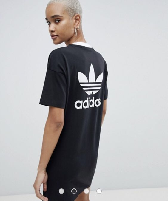 403219cc675 Adidas Originals Trefoil T-Shirt Dress, Women's Fashion, Clothes, Dresses &  Skirts on Carousell