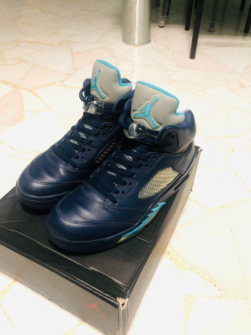 on sale 52faf d23b5 Air Jordan 5 Midnight Navy, Men's Fashion, Footwear ...