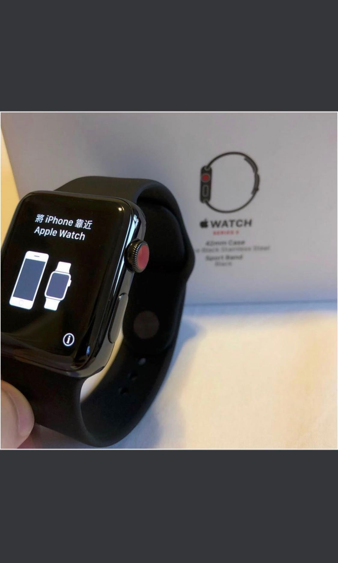 best sneakers 084ab 9a0d0 Apple watch Series 3 Stainless Steel 42mm LTE Space Black [Deliver to you]