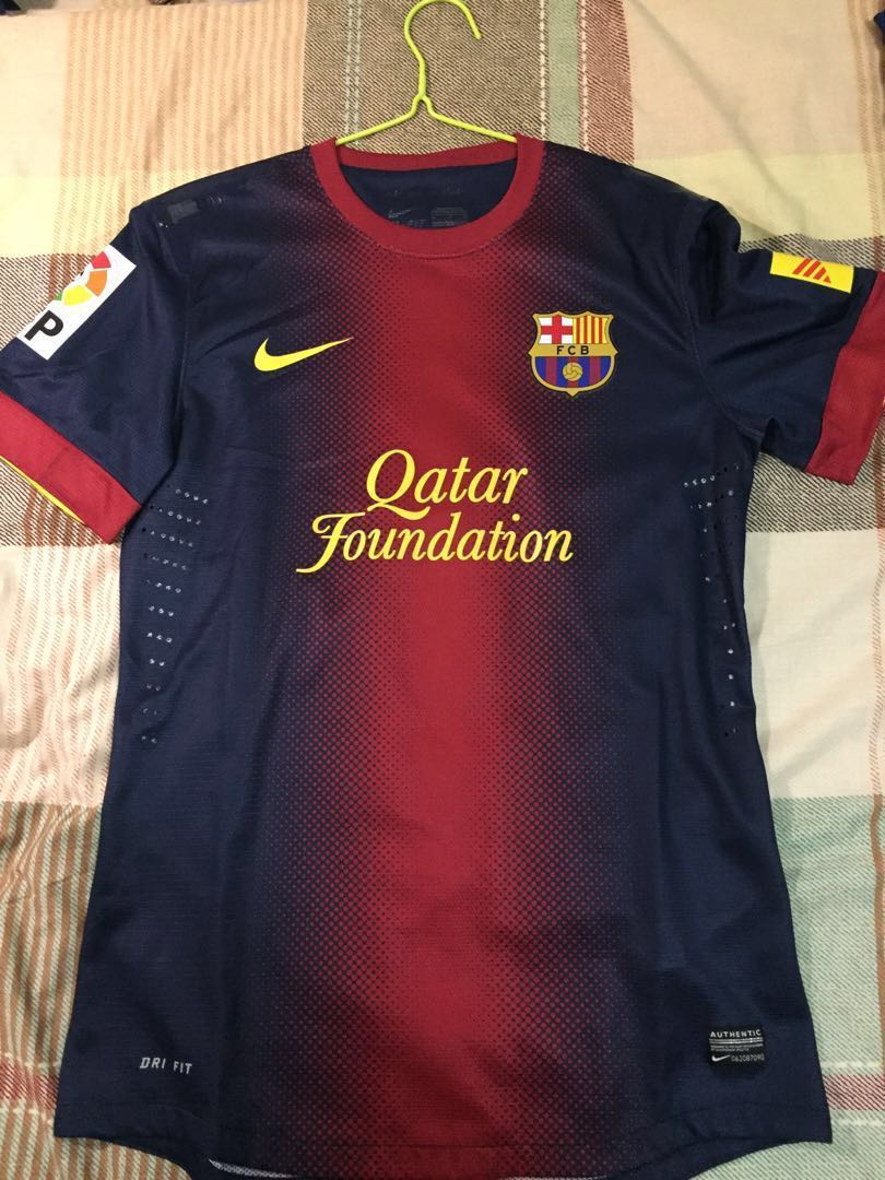 080f15d0bba Authentic FC Barcelona 2012/2013 Home Player Issue Jersey Xavi 6 (M ...