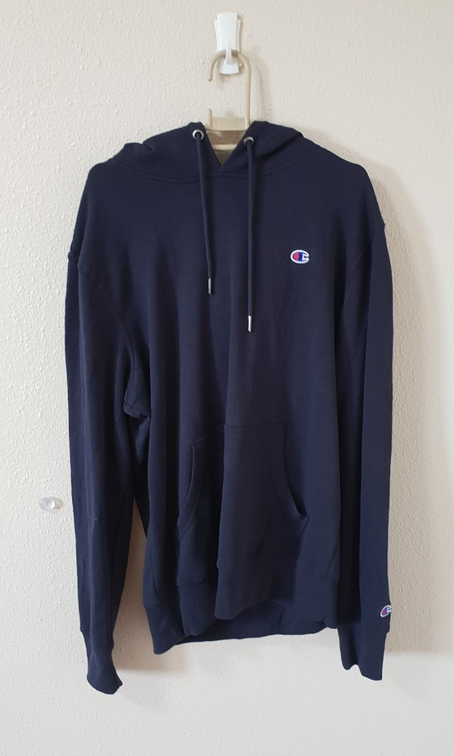 404b8f4a54f Authentic Navy Champion Reverse Weave Pullover Hoodie