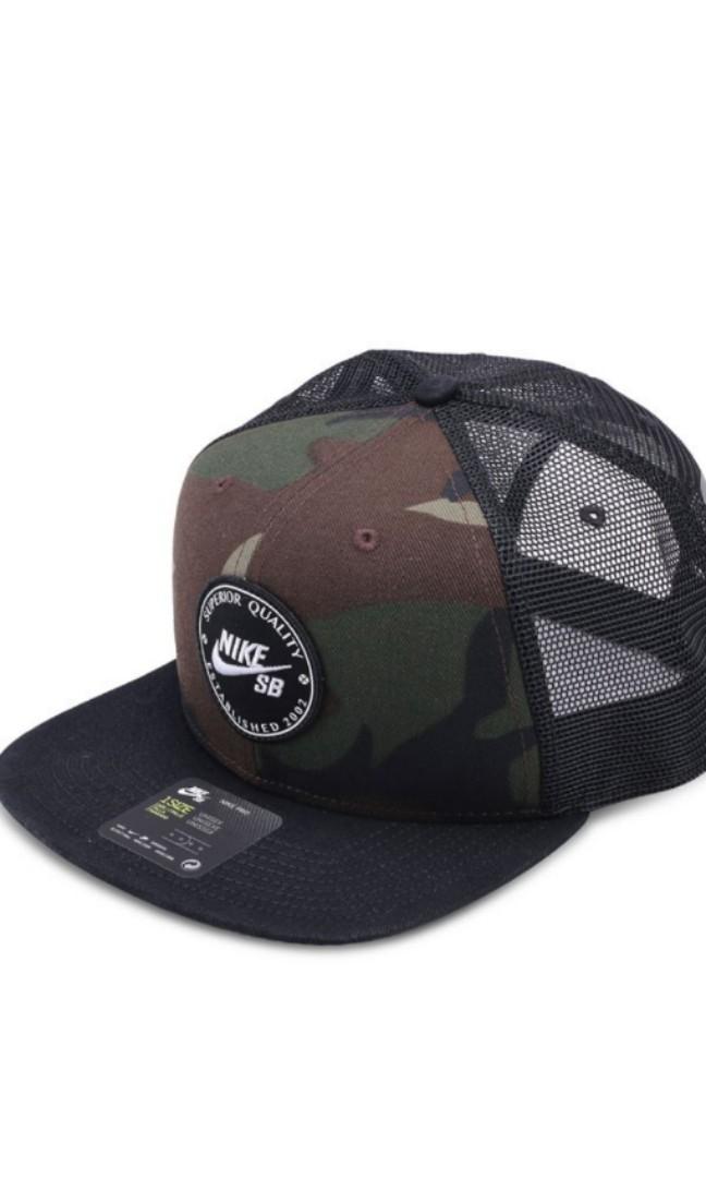 Authentic Nike SB Trucker Mesh Camo Cap 8ad8df9dc0c