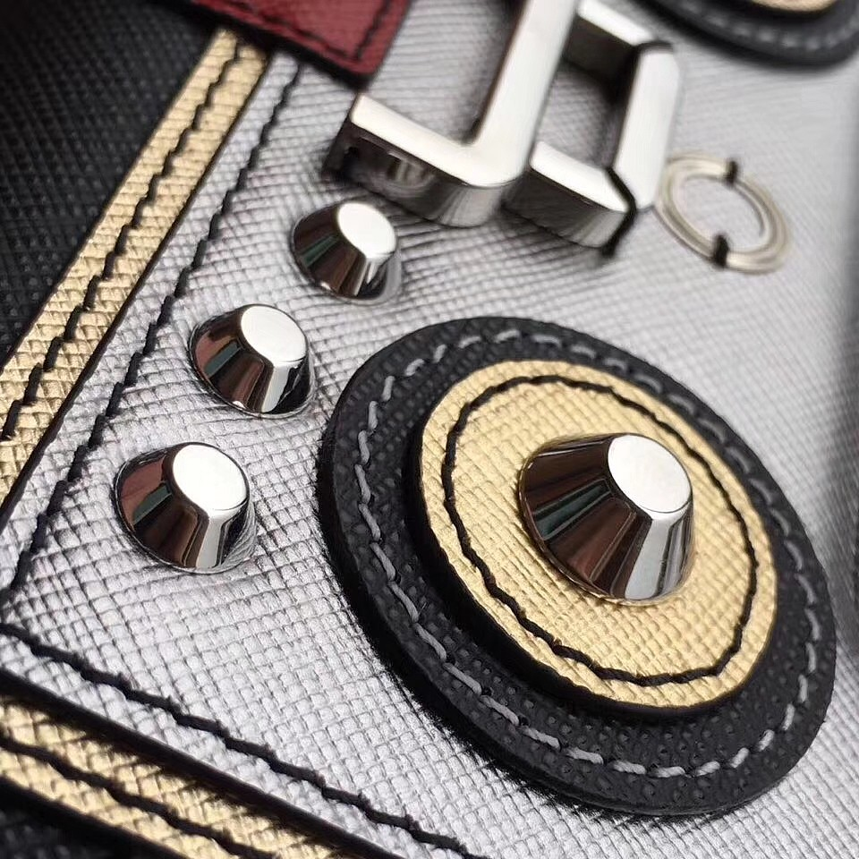 a4abc1f5822 Authentic Prada Saffiano Robot Small Shoulder Leather Bag WOC ...