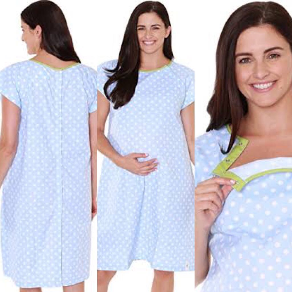 d6a8c8870d0a2 Baby Be Mine Labor & Delivery Hospital Gown(Gownies), Babies & Kids,  Maternity on Carousell