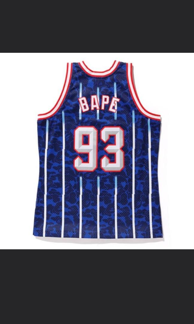 b7fa11a1e45 Bape x Mitchell & Ness MBA Rockets Jersey, Men's Fashion, Clothes ...