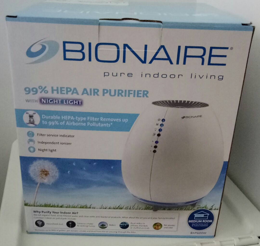 Bionaire air purifier with night light