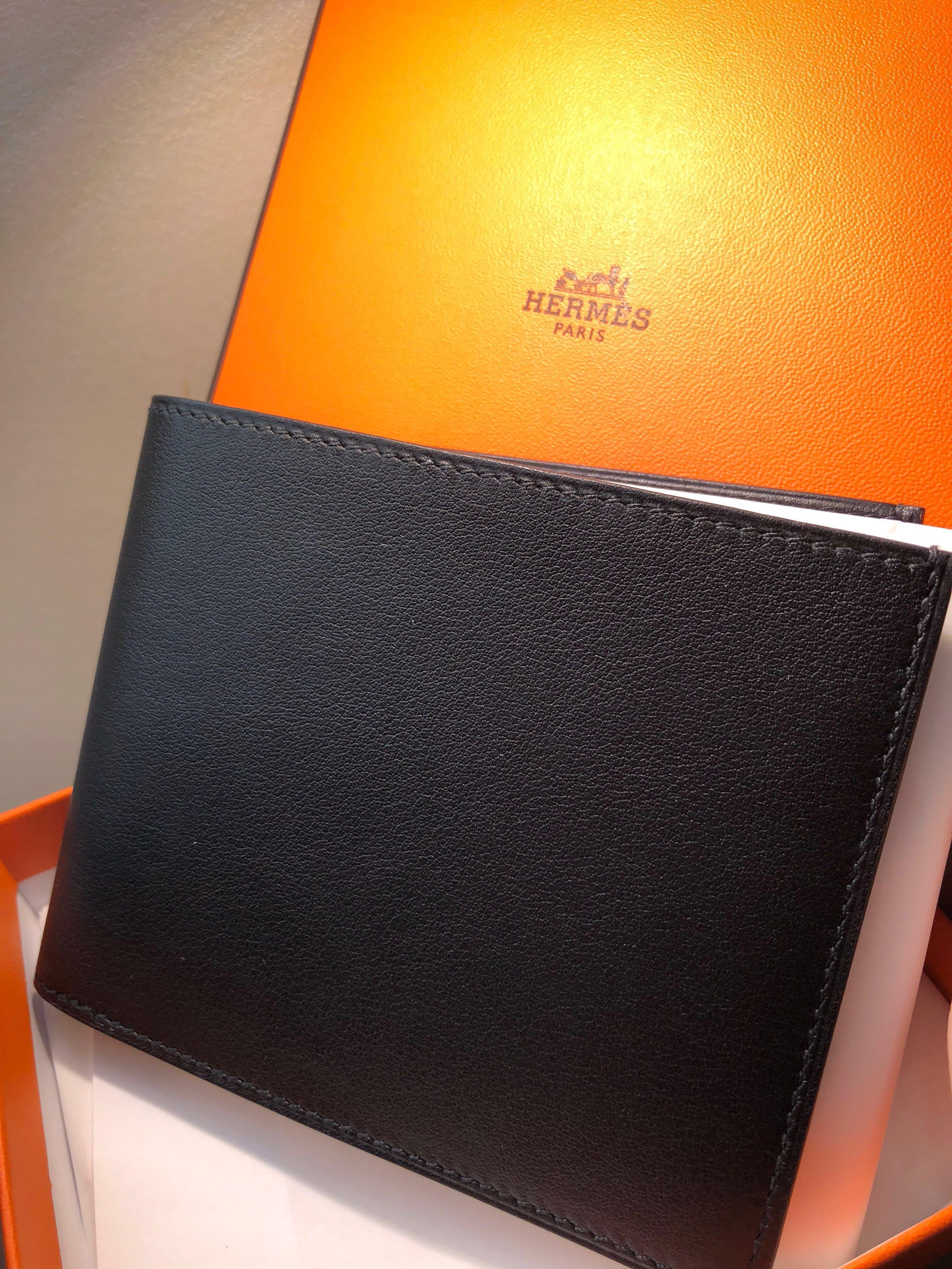 super popular 159d9 52a8e BNIB Hermes citizen twill compact wallet