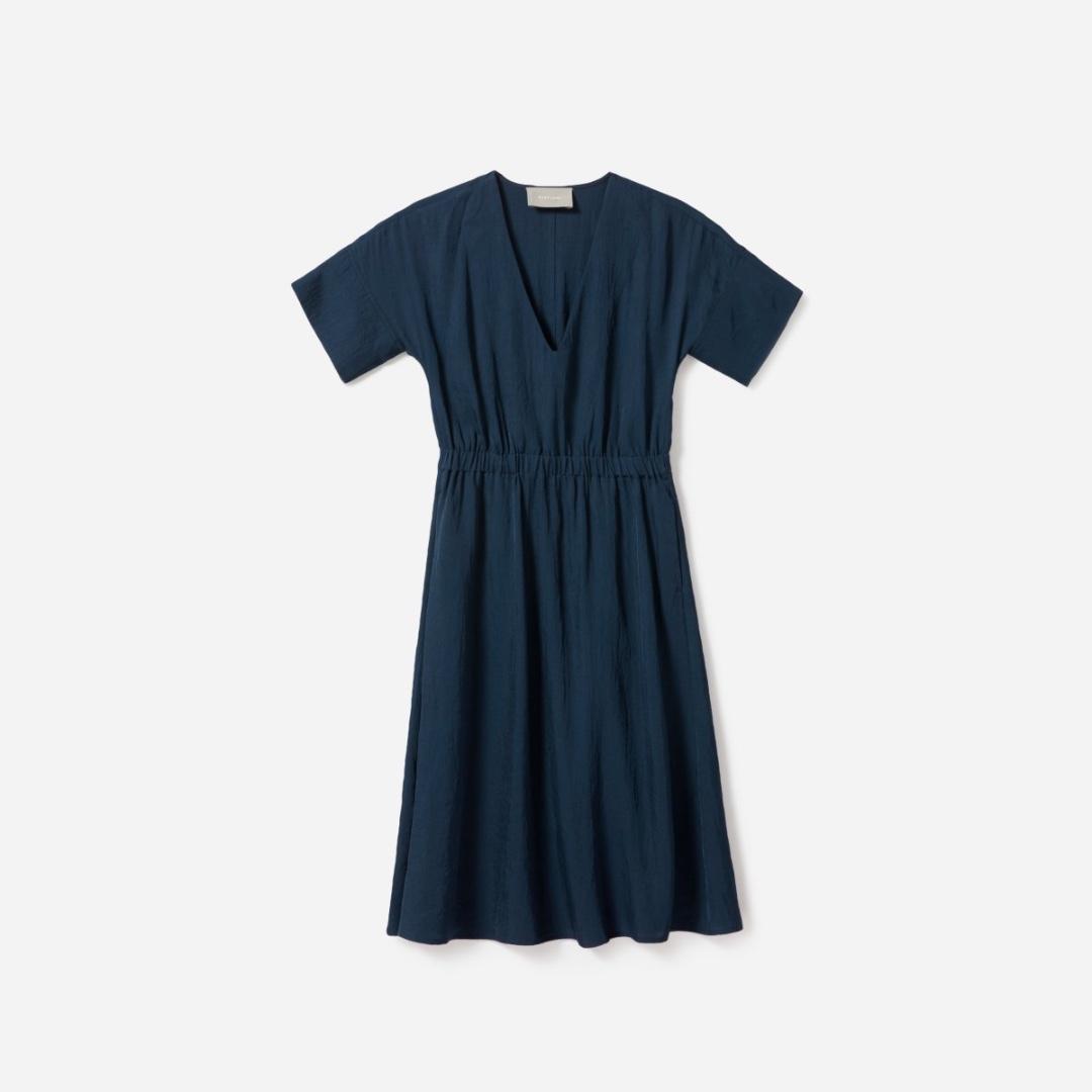 f0220d1d19 BNWT Everlane Japanese GoWeave Light V-Neck Dress Tagged Size 0 ...