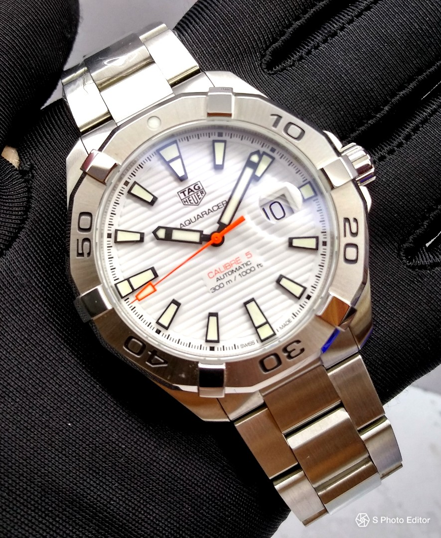 b27871adcc00 Brand New 100% Authentic Tag Heuer Aqua Racer Mens Automatic Sports ...