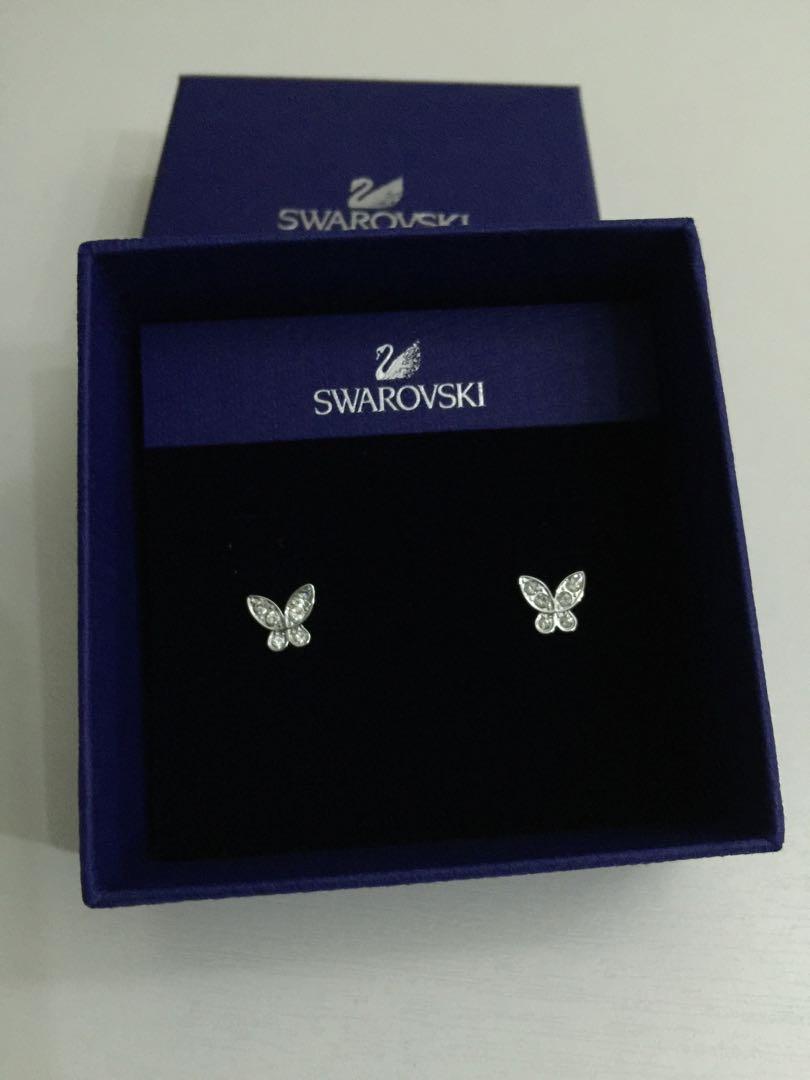 5f01935bc Brand new Swarovski Butterfly Earring, Women's Fashion, Jewellery ...