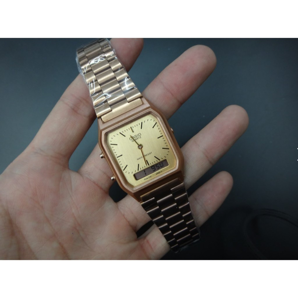 ea273bca5f1 Casio OEM vintage dual time Php 800.00 Available colors  all gold ...
