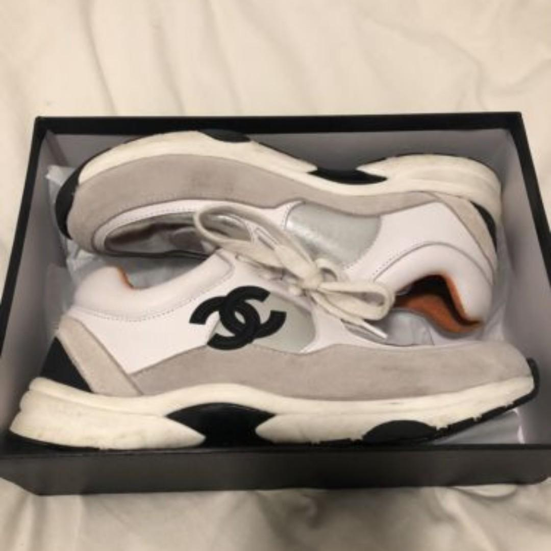 Chanel SS18 Sneakers Size 41 Designer Trainer CC logo