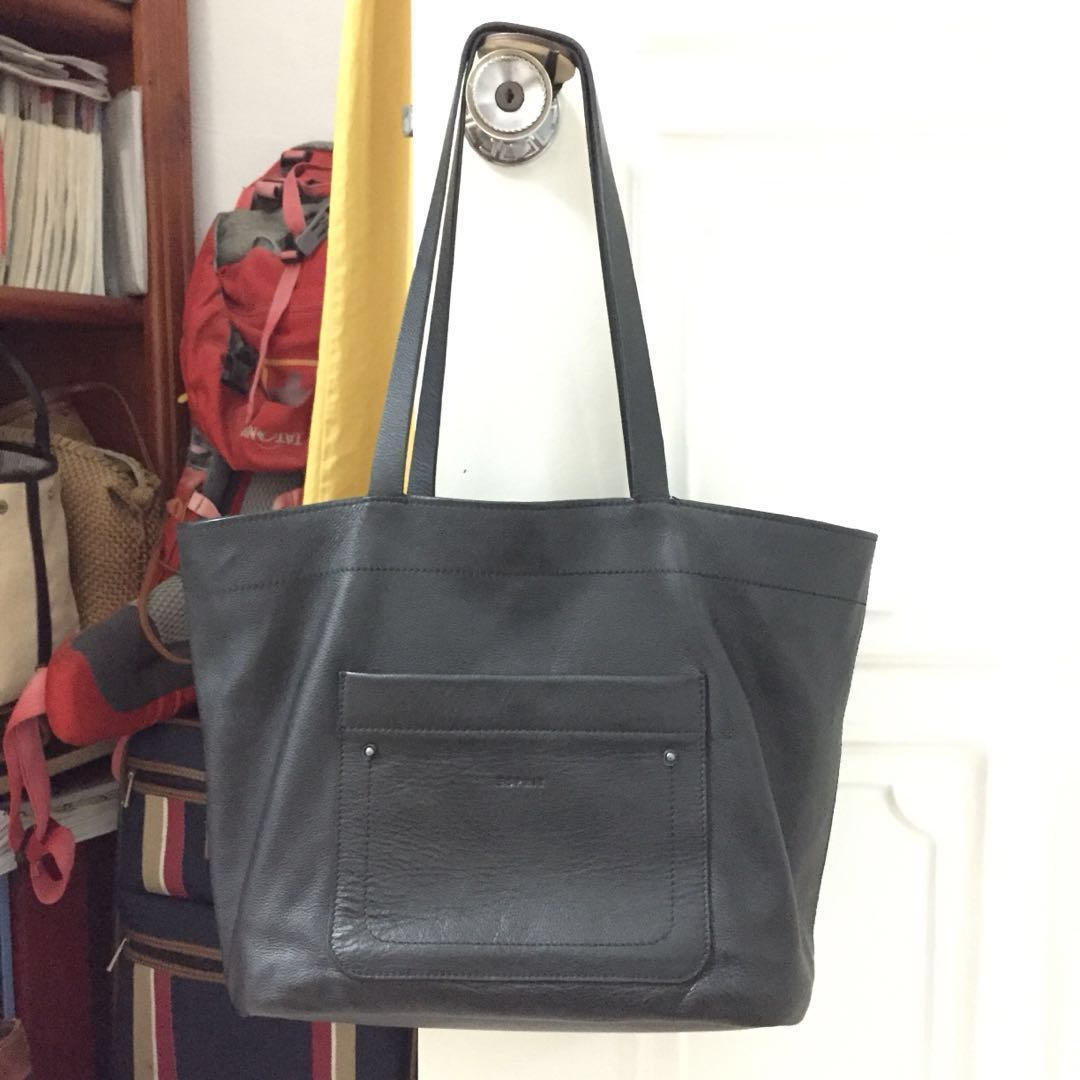 7bc436956 Esprit | Genuine Leather Tote, Women's Fashion, Bags & Wallets ...