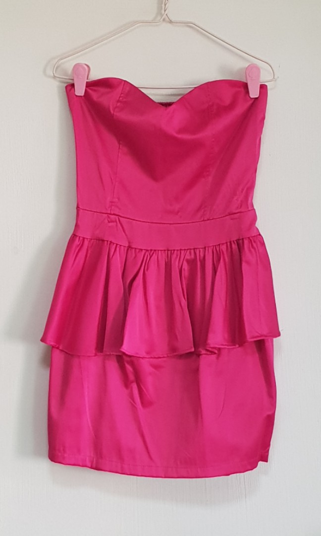 Fuschia Peplum Dresses