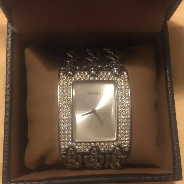 GUESS LADIES WATCH WITH SWAROVSKI CRYSTALS