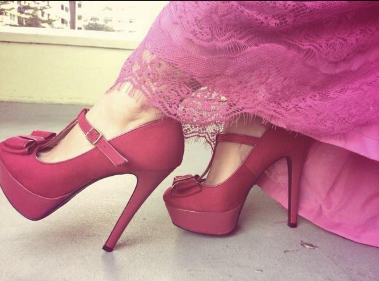 58cd7828b75 Hot Pink New Look Heels