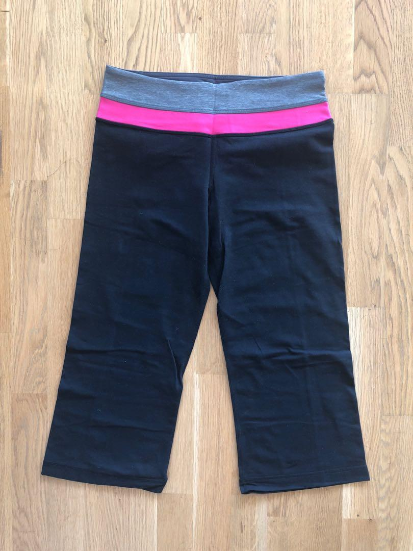 Lululemon groove crops size 6 reversible
