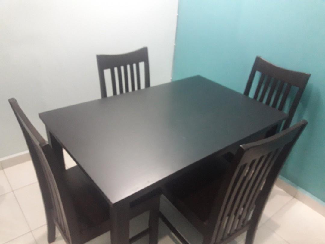 Meja Makan 4 Kerusi Home Furniture