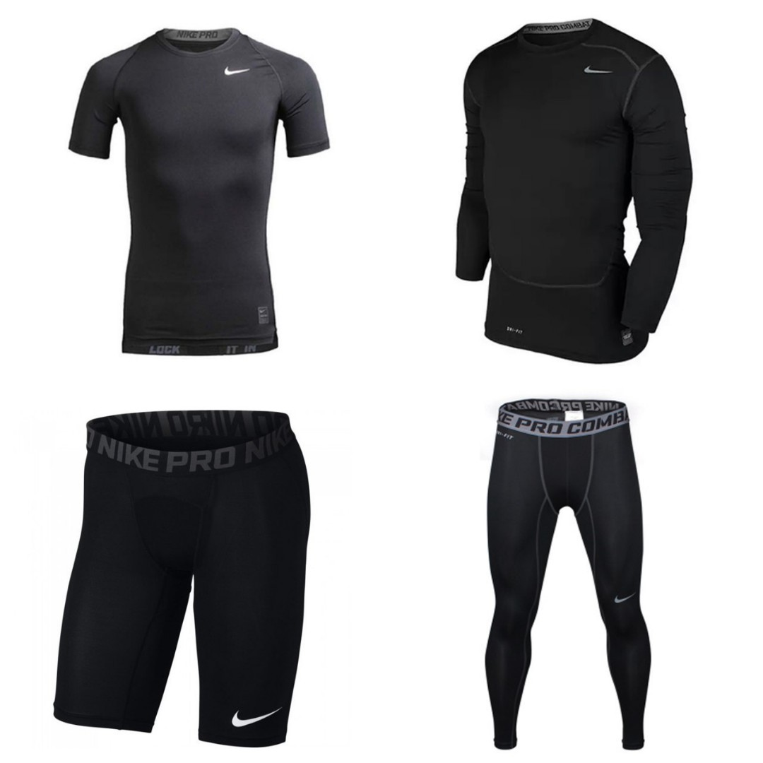 9f78204a9d Nike Pro Combat Compression Tights, Sports, Sports Apparel on Carousell