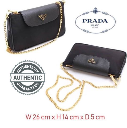 3f9ee64efcacc7 PRADA Sling/Clutch, Women's Fashion, Bags & Wallets, Clutches on ...