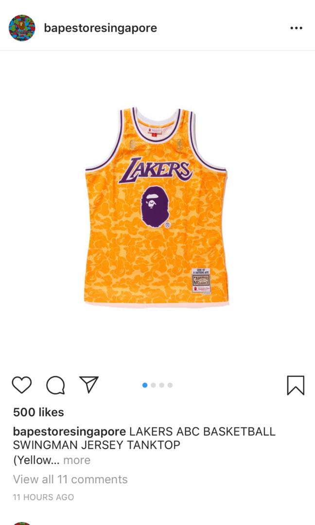 7339be19b59 PREORDER: Bape x Mitchell & Ness, Men's Fashion, Clothes, Tops on ...