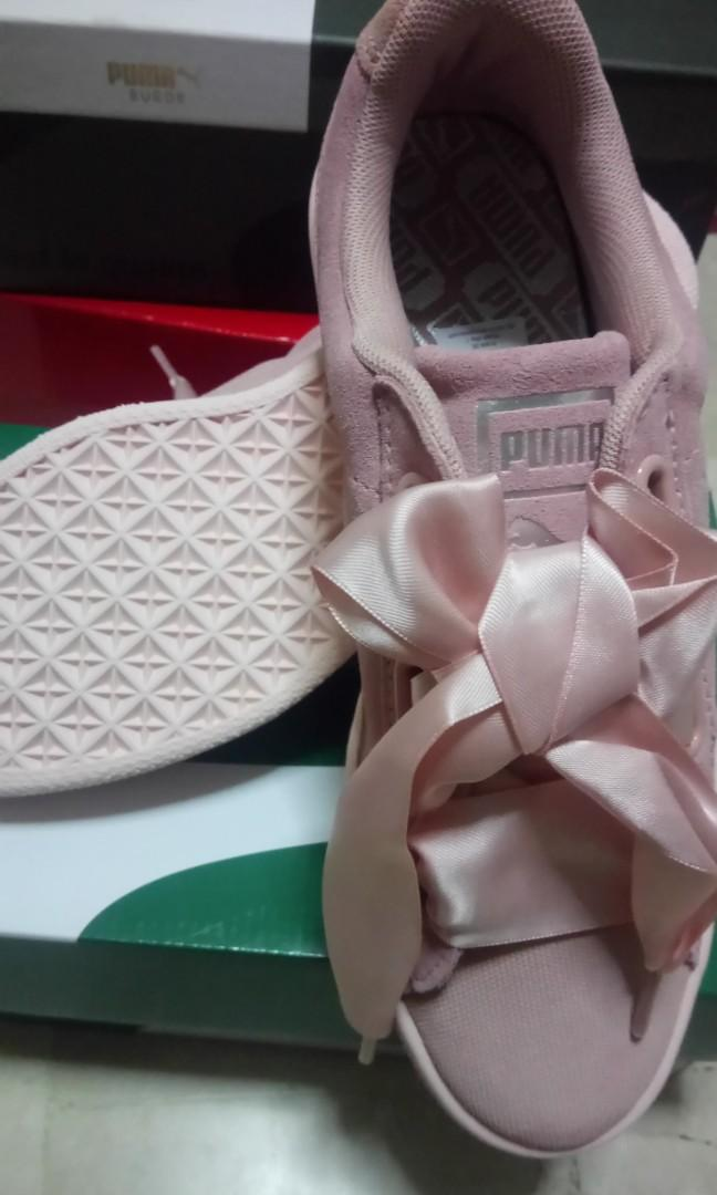 721cd054 PUMA suede heart pebble women shoes color: peach Beige and pearl ...