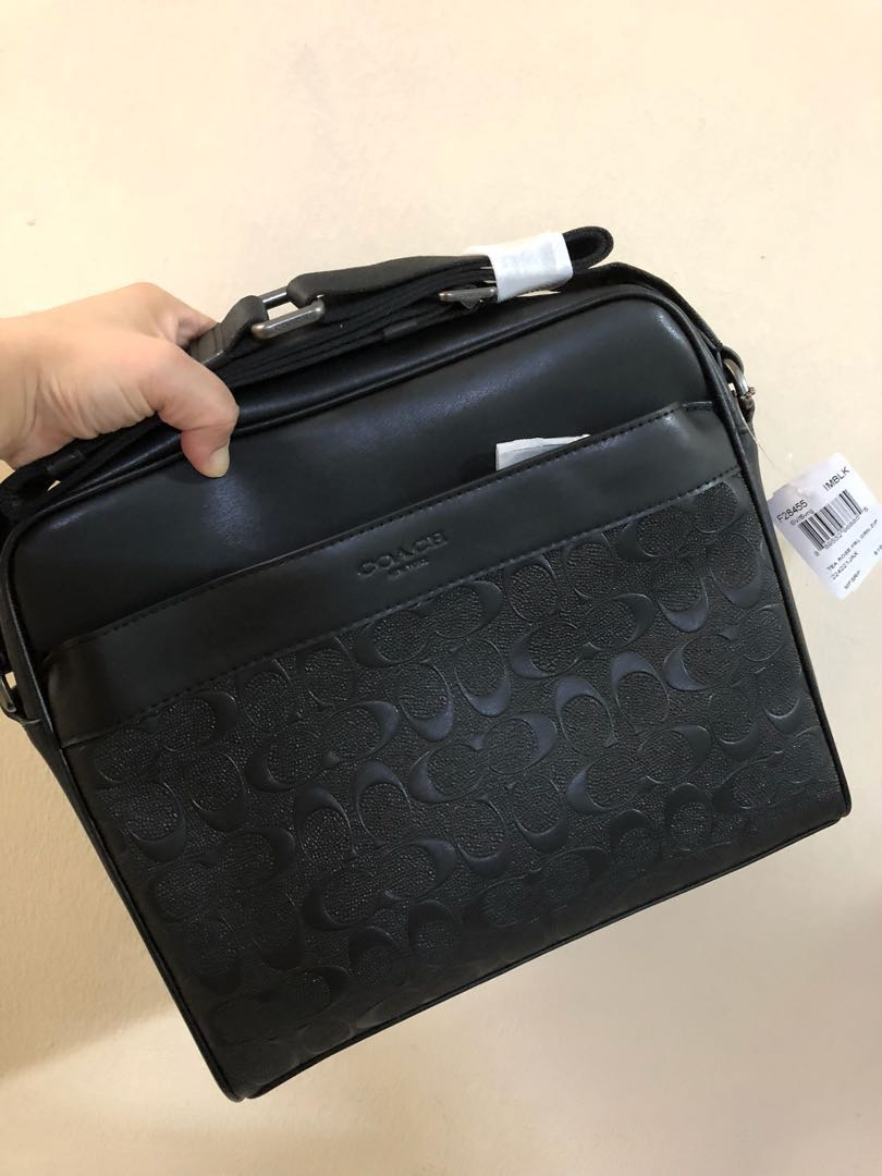 c263112ed70d4 Ready stock (现货) CHARLES CAMERA BAG IN SIGNATURE LEATHER COACH ...