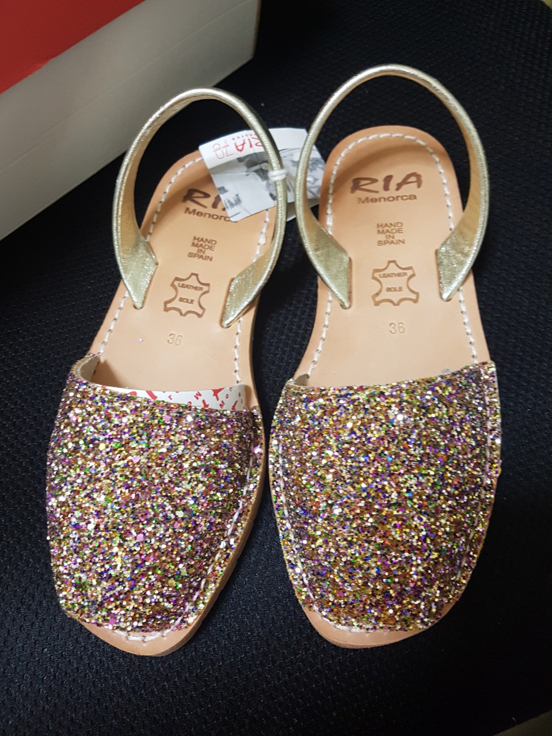 e3123a8ed Brand new Ria Menorca flat sandles with Bling (Size 36)