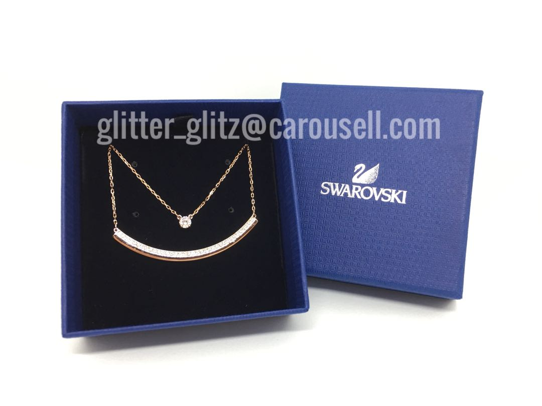 548d21b8476b7 S$70 off!!! New Genuine Swarovski Fresh Necklace, White, Rose Gold Plating  5225438 (RRP S$249)