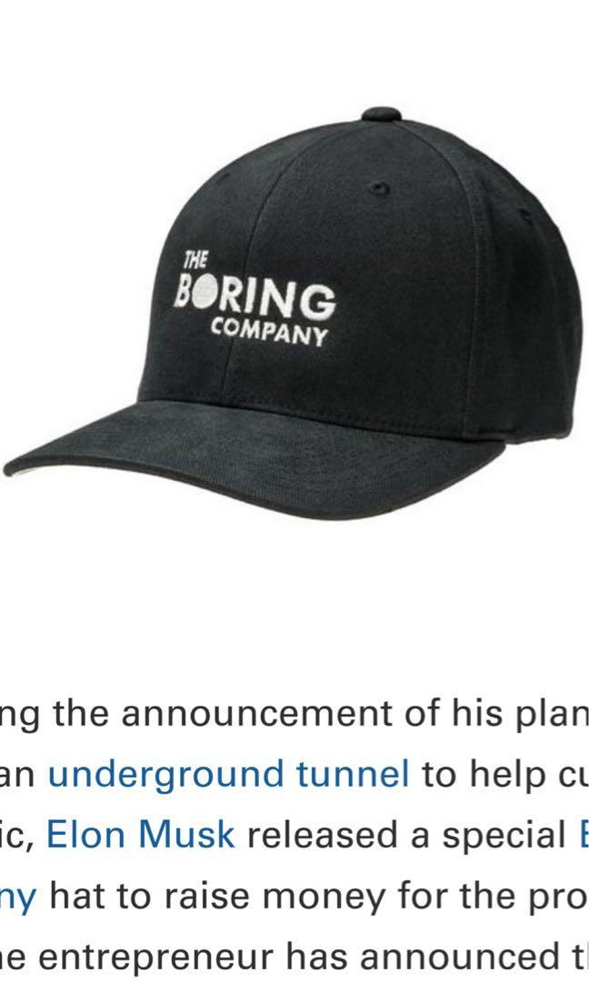 The Boring Company Hat Elon Musk Tesla Space X DS Baseball Cap Limited Edition