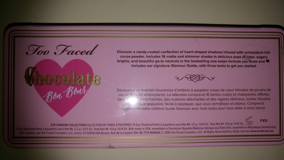 Too faced - Bon Bon chocolate bar eyeshadow palette