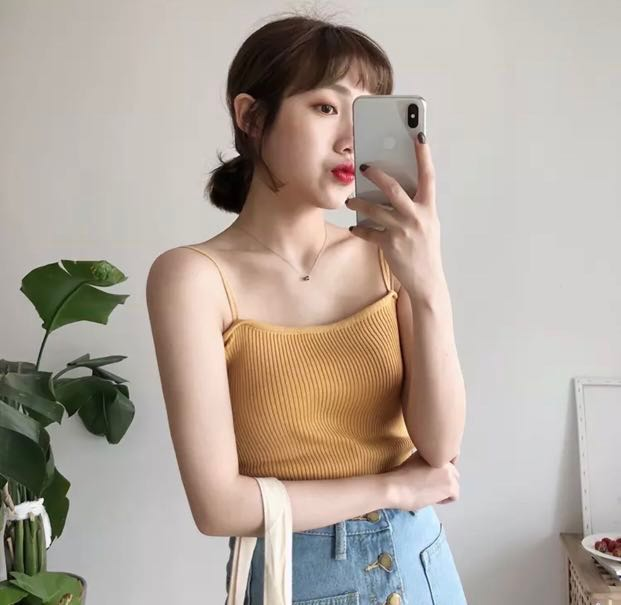d57c76ce798 ulzzang CAMI top ☀ [PROMOTION], Women's Fashion, Clothes, Tops on ...