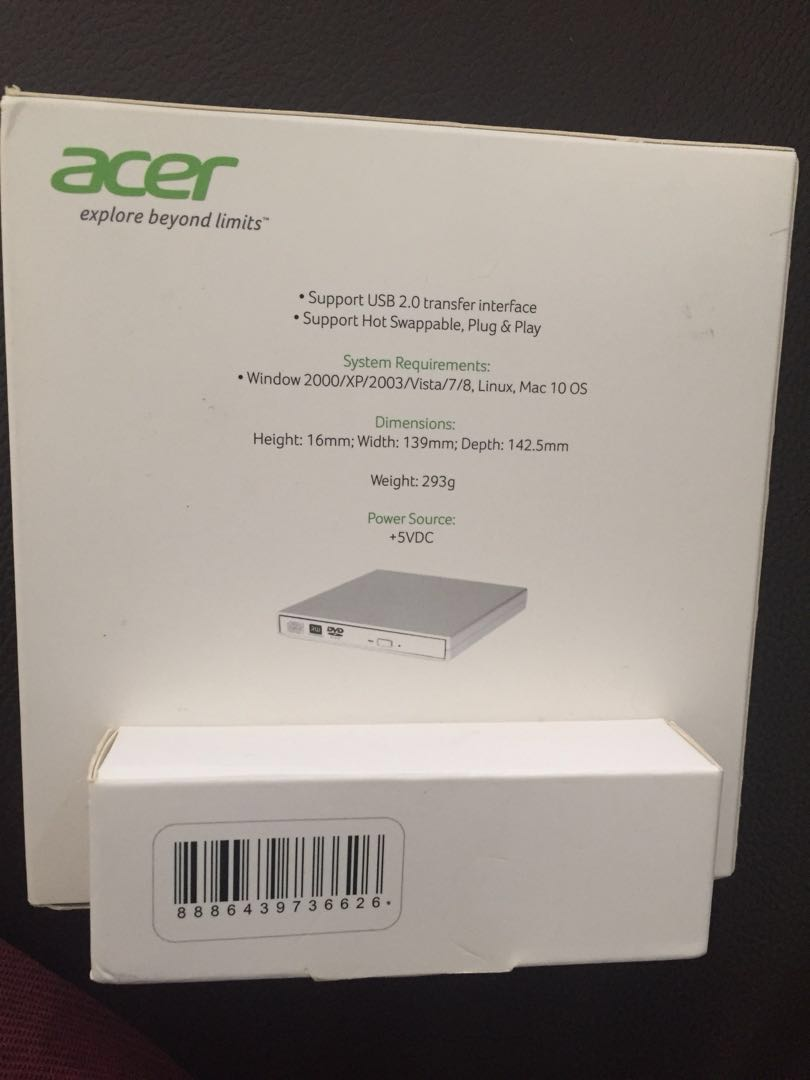 USB DVD writer ACER Brand New