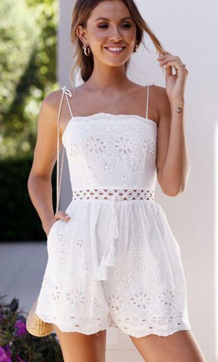 54367c5a569 White Summer Romper