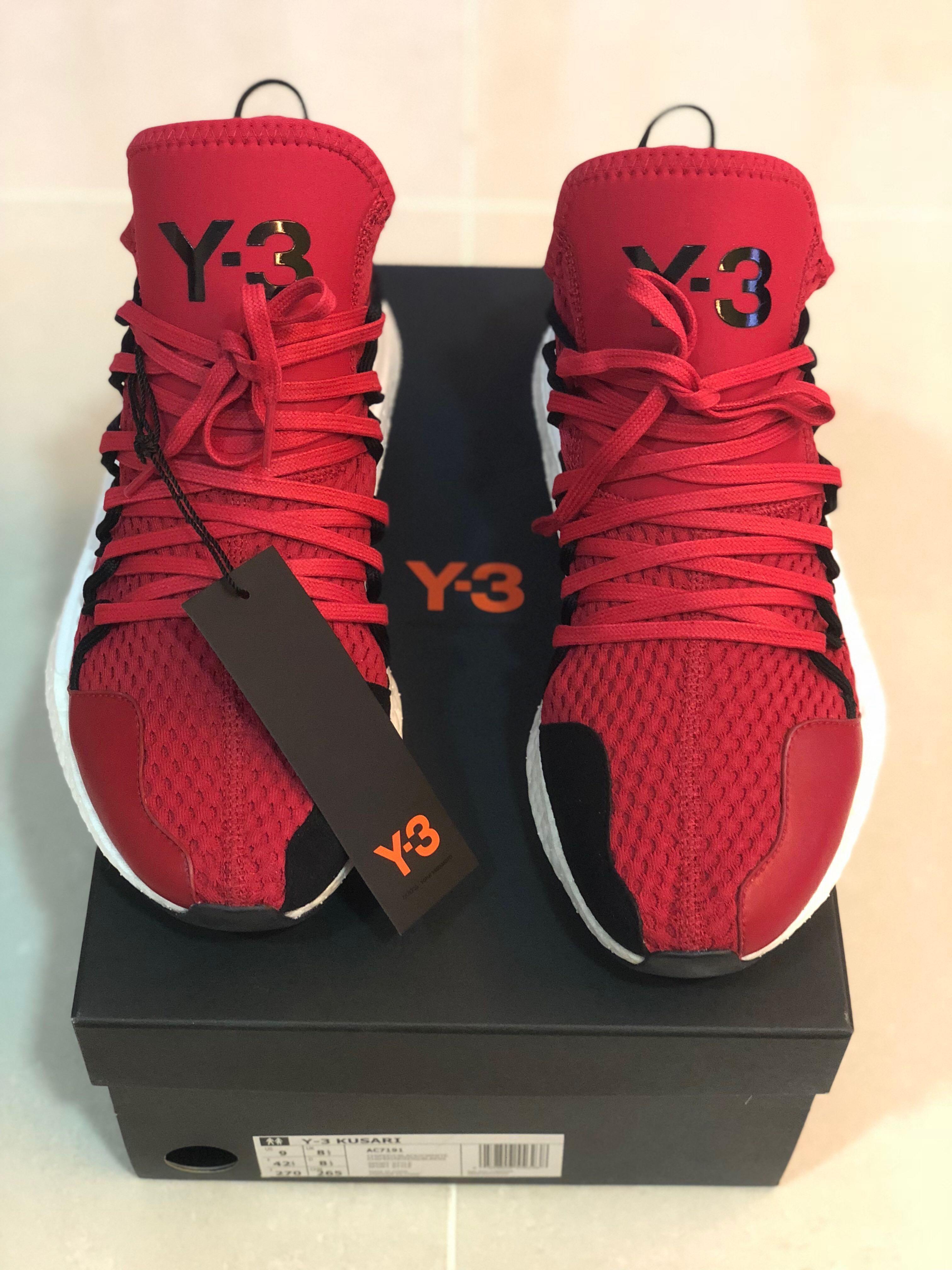 c6d69debd Y-3 Yohji Yamamoto Kusari Red Sneaker