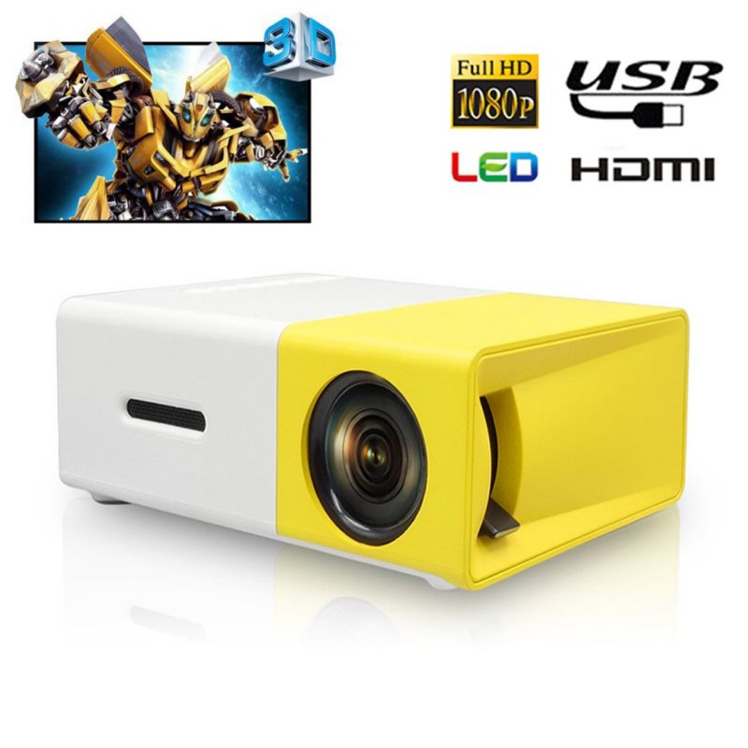 1142ea91ea92f3 YG-300 LED LCD Handheld Mini Projector Home Cinema for DVD Player ...