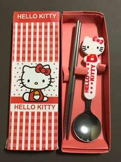 Hello Kitty utensils chopsticks and spoons